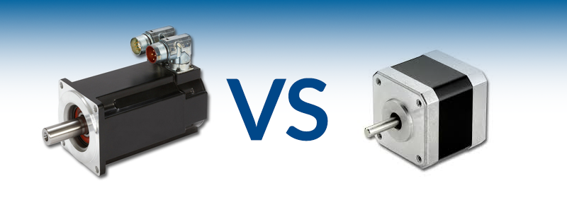 stepper motor vs servo motor